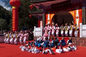 Children participating in traditional ceremony
