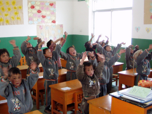 ChiME Project - Children in a remote part of China having fun in class.